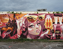 Miami Vibes Miami, FL, US, 2017 BaselHouseMuralFestival