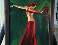 Dancing with the Red ( oil on canvas ) 29 X 21 cm