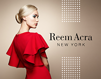 Reem Acra New York. Fashion Website Design.