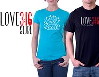 Identidad Corporativa y Diseños Love3:16 Store