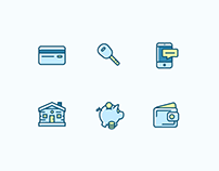 12 Financial Bank Icons