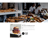 Gusto – Free Bootstrap food and restaurant template
