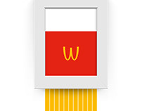 The art of fries for McDonald's Austria.