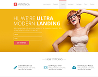 Fantonica: Responsive Bootstrap HTML5 Landing Page