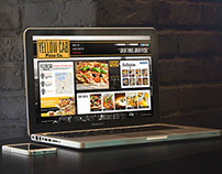 Yellow Cab Pizza Mockup Website