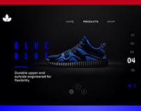 shoe display concept UI