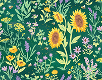Bee Meadow Pattern Collection