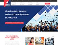 VIP Maltepe Fen Bilimleri Anadolu Lisesi Web Tasarımı