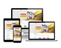 Responsive brand's web site - oil.patron.ru