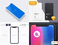 10 Free iPhone X Mockups [PSD, Sketch]