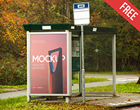 Free Outdoor Advertising Mock-up in PSD