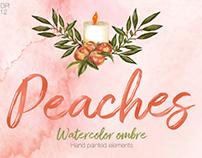 Peach Passion Watercolor set