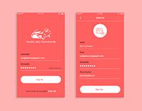 UI/UX Login Screen