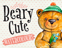 Beary Cute Watercolour Illustrations