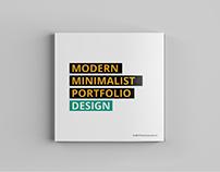 Minimal Square Portfolio Brochure