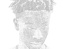 JOEY BADA$$ - TYPOGRAPHY PORTRAIT