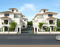 3D Rendering Services in India for Front View of Villa