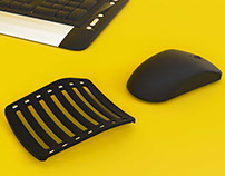 Kakum: Adjustable wrist rest for mouse users