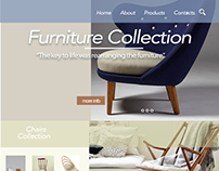Furniture website by Zhanna Karapetyan