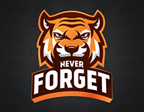 Never Forget E Sport Team Logo