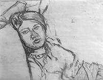 Portrait series (vine charcoal)