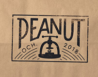 Peanut — Hand Lettered Logo