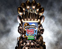 Iron Spoon Throne prop for Ben & Jerry's