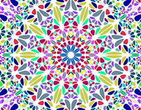 FREE Vector: Colorful Radial Floral Mosaic Background