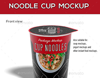 Noodle Cup Package Mock-Up