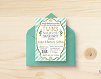 TWINS! Baby Shower Invitations