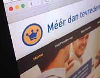 """Website """"Méér dan tevreden klanten"""""""