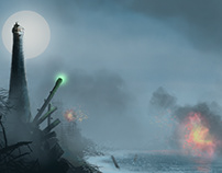 Concept background videogame