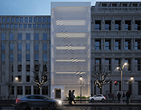 Modern facade for building