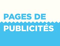 Pages de pubilicités