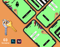 Mobile Login UI Kit PSD