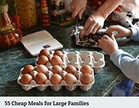 55 Cheap Meals for Large Families