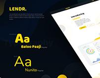 Lendr - Landing - Page