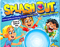 """Splash Out"" toy box illustration & characters"