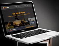 Evolve Social: website design