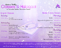 Poster Design: Classes & Halaqaat