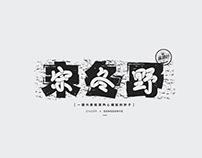 字體設計 · 民谣男歌手 / Typography