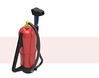 Ergonomic extinguisher