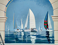 Mural on the Sea and Sails