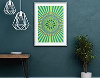 Still - Geometric poster