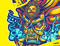 Aztecan oni mask