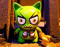 GLITCH (Roadkill Cat) – Trikky 4″ Custom
