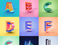 36 Days of Type - 3D Edition 2018