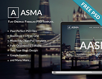 AASMA One Page Free Psd Templates