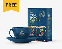 Free Tea Box Packaging Mockup Set