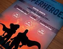 Superhero themed poster/flyer I